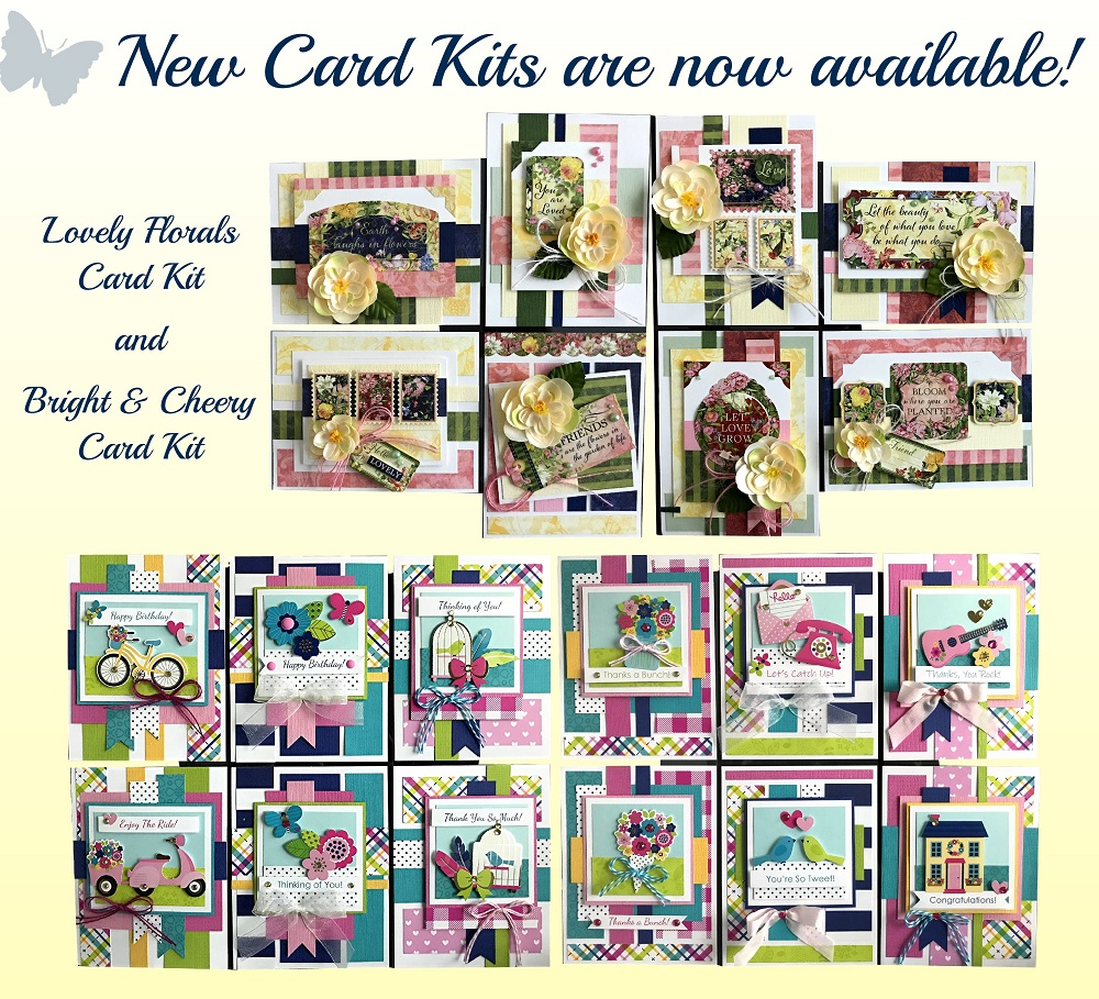 Kims card kits unique handmade card kits card making kits m4hsunfo