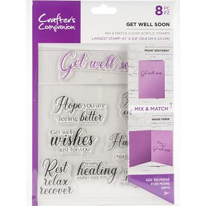 Crafter's Companion Mix & Match Clear Stamps - GET WELL SOON
