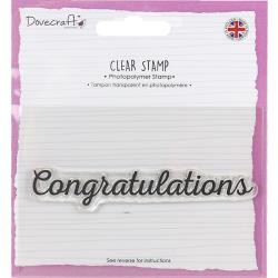 "Dovecraft Congratulations Clear Stamp 3/4"" x 4"""