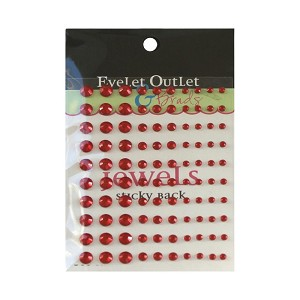 Adhesive Jewels Red (100/pkg)
