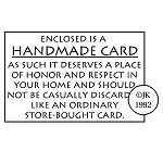 Handmade Card Judikins Rubber Stamp 1.75
