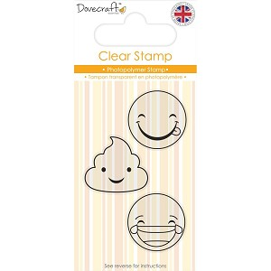 "Dovecraft Smiley Clear Stamp Set 2""x3"""