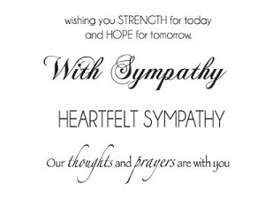 "Sympathy Mini Clear Stamps 2.25""X3"""