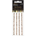 Brass Metal Stickers Nailheads 5mm Round 64/Pkg
