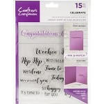 Crafter's Companion Mix & Match Clear Stamps - CELEBRATE