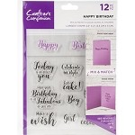 Crafter's Companion Mix & Match Clear Stamps - HAPPY BIRTHDAY