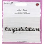 Dovecraft Congratulations Clear Stamp 3/4