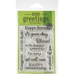 Hero Arts Greetings Clear Stamps 3