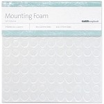 Adhesive Circles Mounting Foam 3 Sheets, SM & LG Dots, 1/8