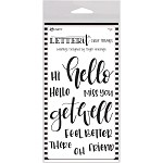 Ranger Letter It Clear Stamp Set 4