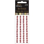 Red Metal Stickers Nailheads 5mm Round 64/Pkg