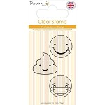 Dovecraft Smiley Clear Stamp Set 2