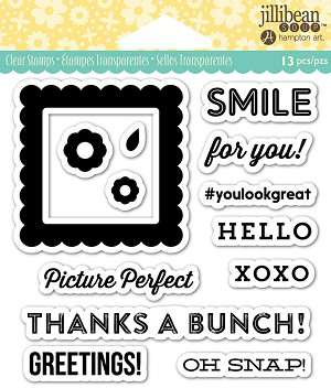 "Jillibean Soup Picture Perfect Acrylic Stamp Set 4""x4"""