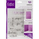 Crafter's Companion Mix & Match Clear Stamps - SYMPATHY