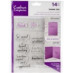 Crafter's Companion Mix & Match Clear Stamps - THANK YOU