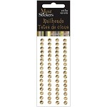 Gold Metal Stickers Nailheads 5mm Round 64/Pkg