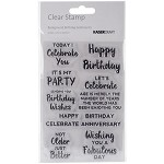 Kaisercraft Birthday Sentiments Stamp Set 4
