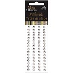 Silver Metal Stickers Nailheads 5mm Round 64/Pkg