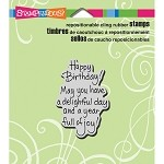 Stampendous Delightful Birthday Cling Stamp 1.5